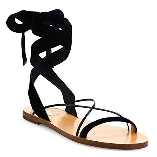 Moda Mujer verano sandalias confortables tacones altos,35 Rosa Black