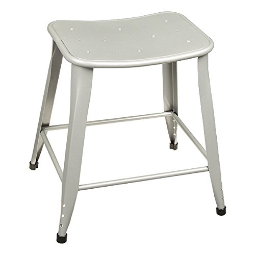 "Norwood Commercial Furniture Contoured Metal Stool, 18"" Seat"