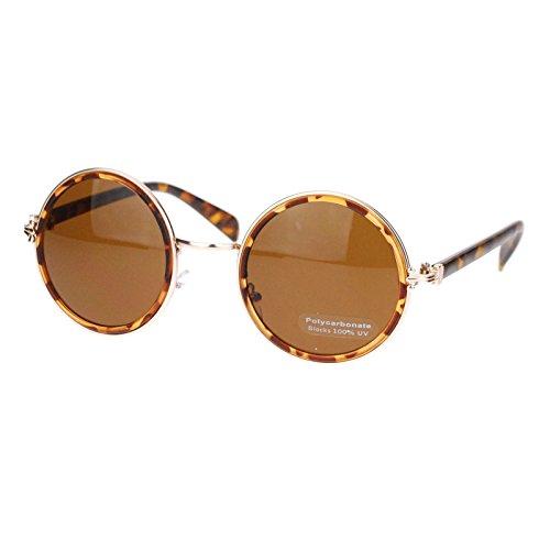 Retro Victorian Hinge Round Circle Lens Designer Fashion Sunglasses - 1920s Sunglasses