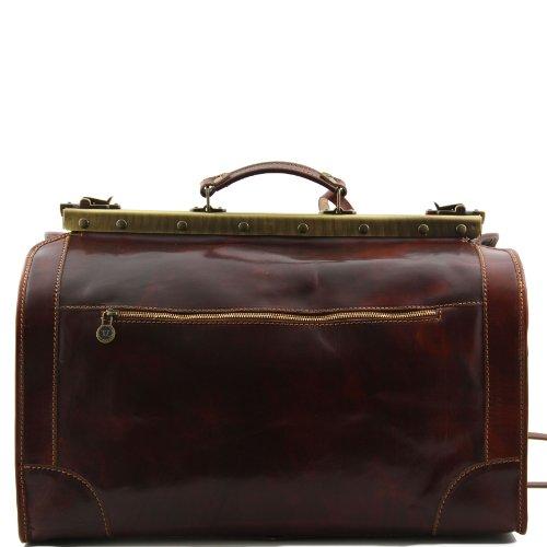 810234 - TUSCANY LEATHER: MADRID - Sac de voyage en cuir - Petit modèle, rouge