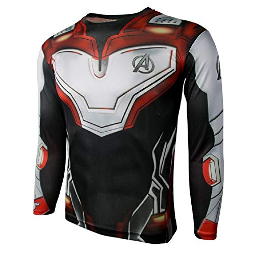 PONGONE Superhero Cosplay Compression Sports Shirt Physics Tight Quick Dry Base Layer -