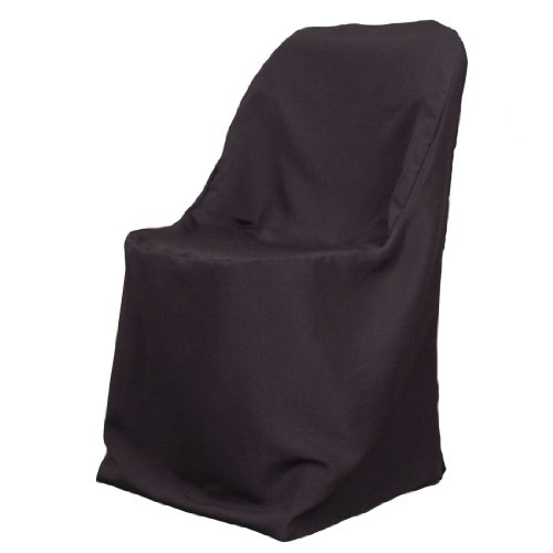 25 Brand New Black Polyester Folding Chair Covers Patio