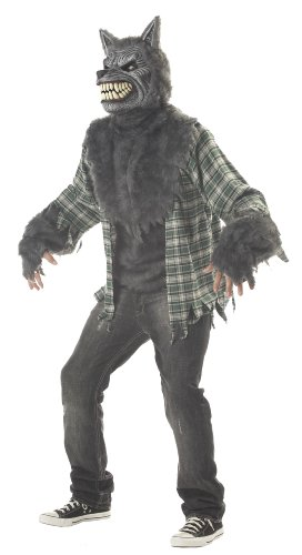 California Costumes Men's Full Moon Madness Costume,Grey/Green,Large