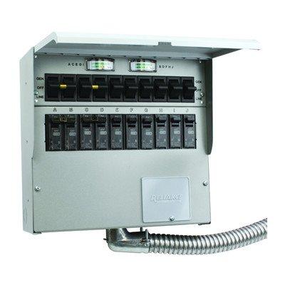 A510C Pro/Tran2 50-Amp 10-Circuit 2 Manual Transfer (Circuit Manual Transfer Switch)