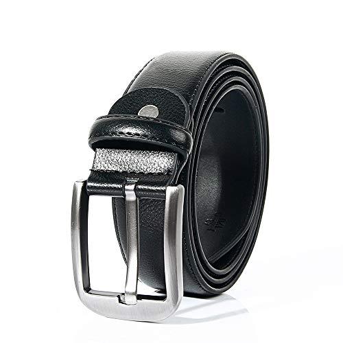 Star Belts for Men Genuine Leather Dress Buckles Belt Adjustable Utility Black, Classic and Fashion Designs (52)