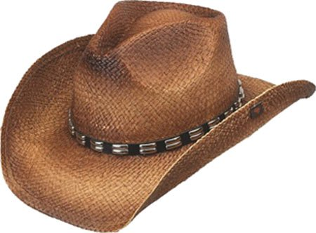 4eebd705 Peter Grimm Studded Raffia Cowboy. Review - Peter Grimm Ltd Men's Bret  Studded Raffia Straw Cowboy Hat Brown One Size