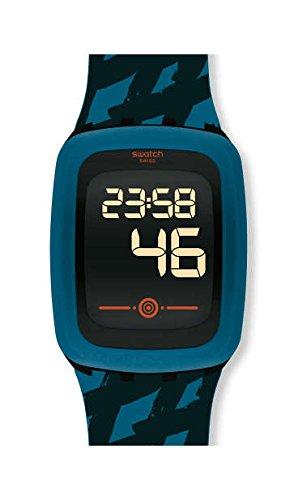 Swatch Reloj Digital para Hombre de Cuarzo con Correa en Silicona SVQB100: Amazon.es: Relojes