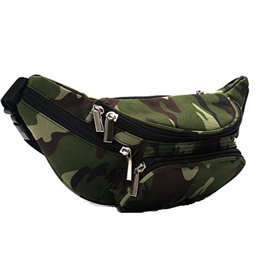 Camouflage Sport Fanny Pack for Travel Hiking Camping Tactical Waist Pack for Men Women by LIANGZE