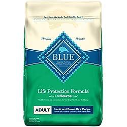 Blue Buffalo Life Protection Formula Adult Dog Food – Natural Dry Dog Food for Adult Dogs – Lamb and Brown Rice – 30 lb. Bag
