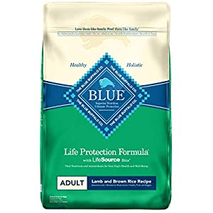 Blue Buffalo Life Protection Formula Adult Dog Food - Natural Dry Dog Food for Adult Dogs - Lamb and Brown Rice - 30 lb. Bag 80