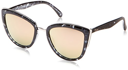 QUAY AUSTRALIA Women's My Girl Black Tort/Pink Mirror Sunglasses