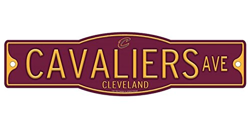 Wincraft Cleveland Cavaliers Basketball Plastic 4 x 17 Street Sign