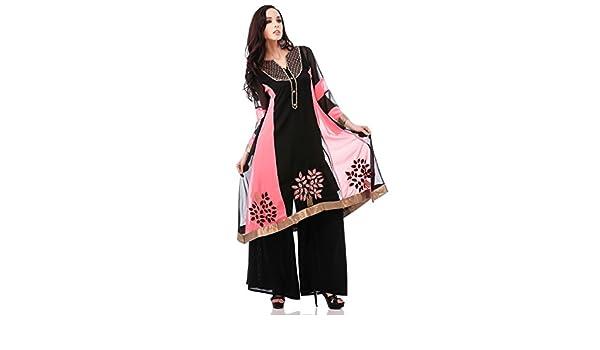 Utsav Fashion - Camisas - para mujer Multicolor Black/ Pink 54: Amazon.es: Ropa y accesorios