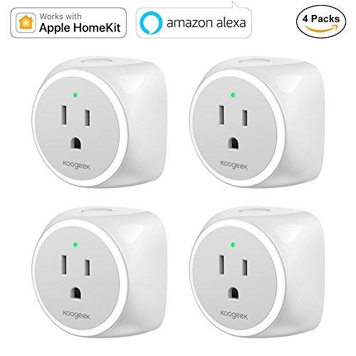 Koogeek Smart Plug, WiFi Outlet, Works with Amazon Alexa and Apple HomeKit by Koogeek