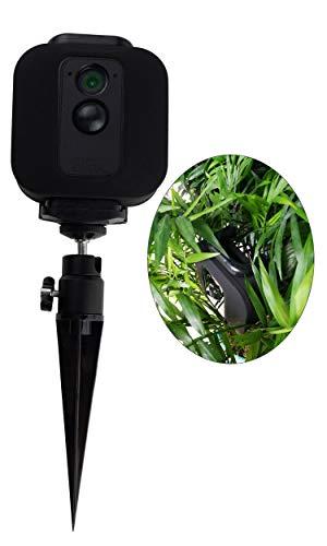Blink XT Camera Hidden Spike Mount Flowerpot Sand Insert Camera Stand,POPMAS 360 Degrees Level Rotation 90 Degrees Vertically Pitching Outdoor Bracket for Blink XT Outdoor Camera Security System Black