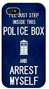 iPhone 5C I'll just step inside this police box - black plastic case / Keep Calm, Motivation and Inspiration, who, doctor, tardis by supermalls