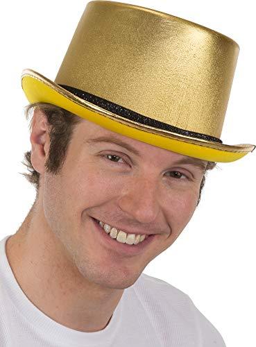 Adults Metallic Gold Top Hat Costume -