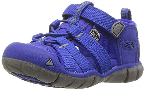 KEEN Unisex Seacamp II CNX Water Shoe, Bright Blue, 4 M US Big Kid