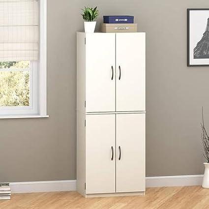Elegant Mainstays Storage Cabinet, Multiple Finishes (White Stipple)