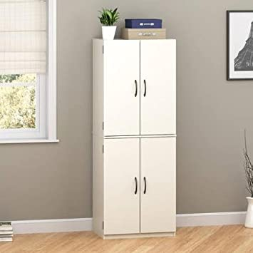 Elegant Mainstays Storage Cabinet, Multiple Finishes (White Stipple)