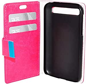 For Blackberry Classic Q20 - Coverking Wallet Leather Case Cover Pink