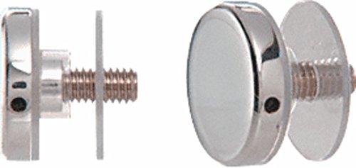 CRL Chrome 1-1/4; Diameter Standoff Cap Assemblies CAP114CH - Standoff Assemblies Cap Chrome