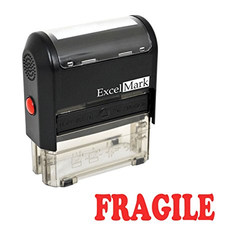 Fragile Self Inking Rubber Stamp - Red Ink