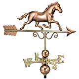 Good Directions Galloping Horse Weathervane, Pure Copper