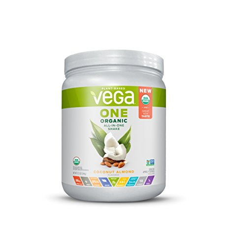 Vega One Organic Plant Protein Powder, Coconut Almond, 12.1 Ounce 41eSqQi50RL