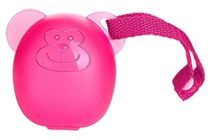 DIAGO 30079.74983 Soother/Pacifier Box (Pink, Monkey)