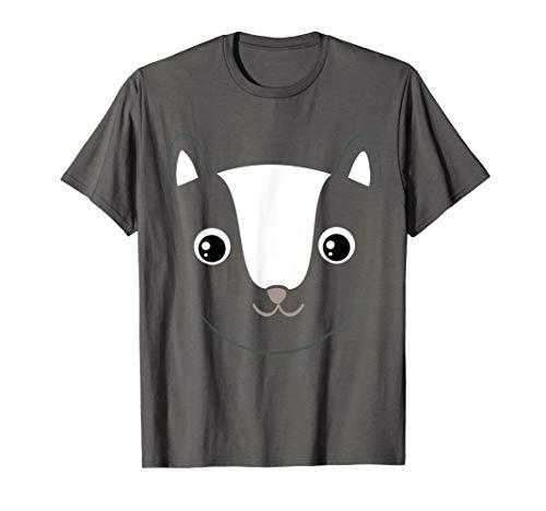 Skunk Face Costume Cute Easy Animal Halloween Gift