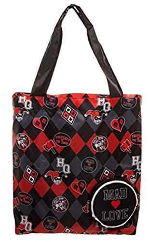 Halloween Trick Or Treat Bag Ideas (DC Comics Harley Quinn Packable Tote)