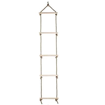 Amazon.com : YaXuan Wooden Rope Ladder,Kids Climbing Rope Ladder ...