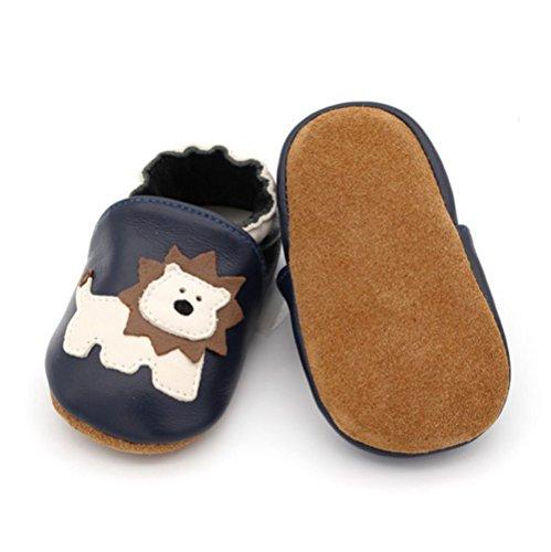 Boy S Infant Months For Sneaker slip Breathable 0 Girl Blue Children baby's Shoes Prewalker Of Newborn Non Vashcame Toddler 6 Leather Lion Soft Ua6nq1