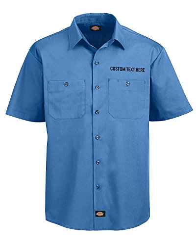 Embroidered Short Sleeve Work Shirt - 5