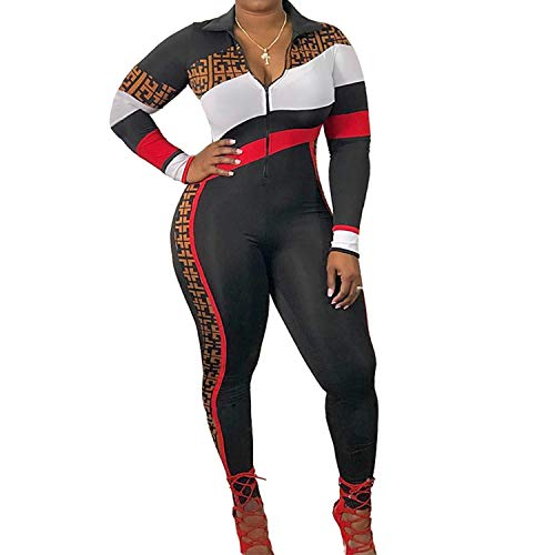 New Outfit 2019 (Two One Piece Jumpsuits String Striped Long Sleeve Bodysuits Clubwear Black)