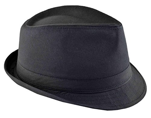 Tiger Smile Men's Basic Demanded Fedora Hat Cap 3xlarge 64cm Black