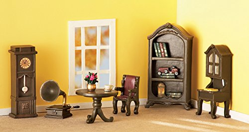 Collectible Miniature Library Furniture Set - 6 pc