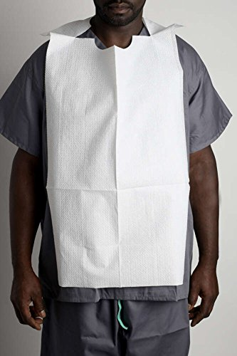 MediChoice Patient Bibs, Tissue/Poly, Adult, 18 Inch x 32 Inch (Case of 300)