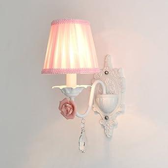 Europäische Wandleuchte Ländlichen Stil Prinzessin Kinderzimmer  Nachttischlampe Wohnzimmer Wand Hintergrund Wand Licht Stoff Schatten  Wandlampen (