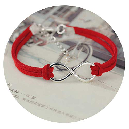 SHILINWEI Fashion Infinity Rope Bracelet Hand-Woven 15 Color Silver Korean Velvet Leather Fashion Wrap Leather Jewelry Women Men,A 3 (Celtic Slave Bracelet)