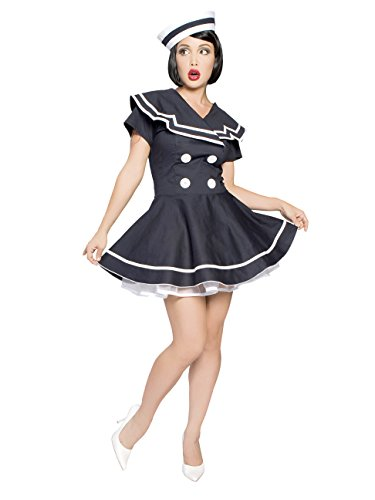 Pin-Up Captain Adult Costume Navy Blue - XX-Large -