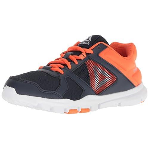 Reebok Yourflex Train 10 Sneaker Black//Primal red 12.5 M US Little Kid