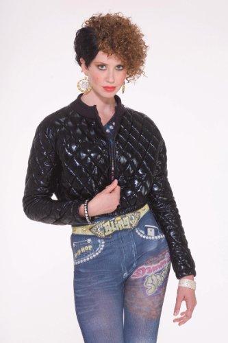 Forum Novelties Women's Hip Hop Costume Quilted Jacket, Black, Standard -