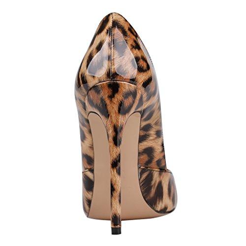 MERUMOTE - Zapatos de tacón fino Mujer - Leopard-Lackleder