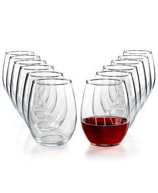 Martha Stewart Essentials 12-Pc. Stemless Wine Glasses Set