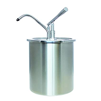 Dispensador de salsa con 10 litros de capacidad, acero inoxidable, con palanca Distancia