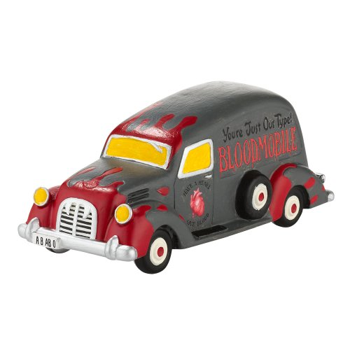 Department 56 Snow Village Halloween Beware of the Bloodmobile Accessory Figurine, 2.76 inch]()