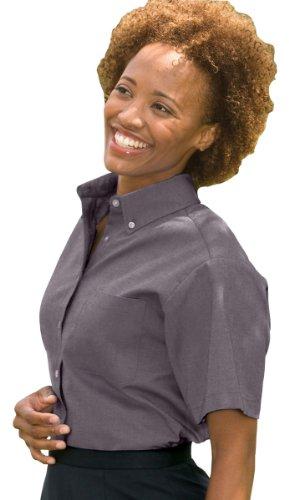 Ed Garments Women's Button Down Oxford Shirt, BLACK, Large ()