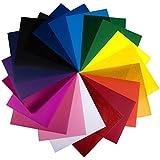 Heat Transfer Vinyl Sheets by Elephant Press - Vinyl Sheet Sheet Set With 20 Colors!